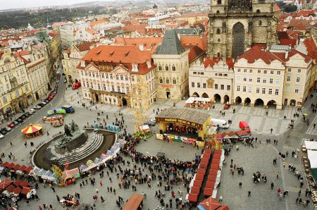Old Town Square Bird View
