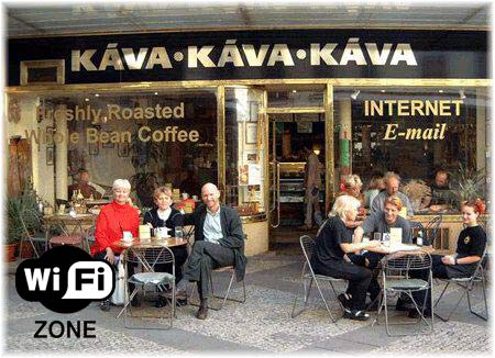 Internet Cafe in Prague