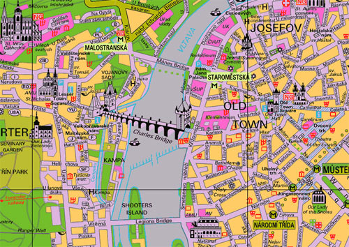 Maps of Prague Prague Guide – Tourist Map of Prague