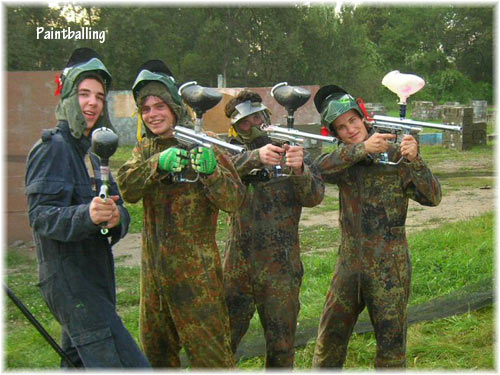Paintballing Prague