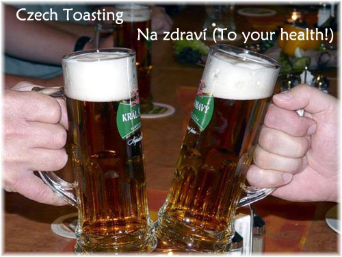 Beer Toasting in Prague