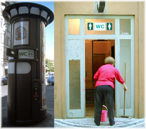 public toilet in prague