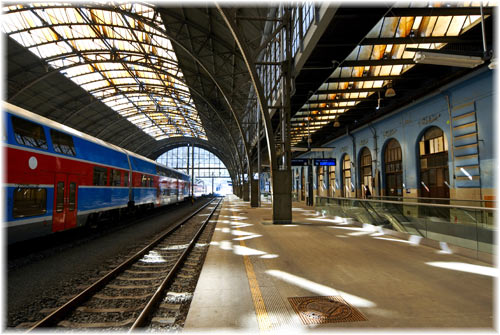 Main Train Station in Prague