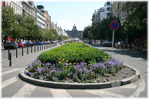 Wenceslas Square - bottom view